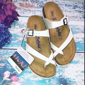 BIRKENSTOCK Mia Slide Sandals WHITE SIZE 36